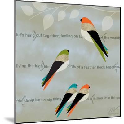 Birds Life - Friendship-Dominique Vari-Mounted Art Print