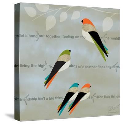 Birds Life - Friendship-Dominique Vari-Stretched Canvas Print