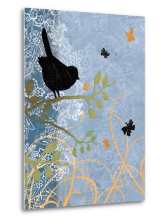 Bird on Branch-Bee Sturgis-Metal Print