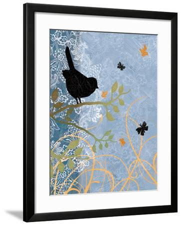 Bird on Branch-Bee Sturgis-Framed Art Print