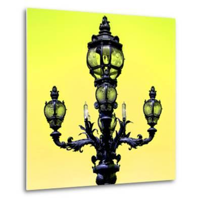 Paris Focus - Colors French Lamppost-Philippe Hugonnard-Metal Print