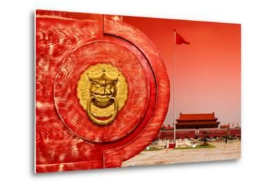 China 10MKm2 Collection - The Door God - Tiananmen Square-Philippe Hugonnard-Metal Print