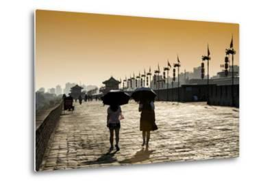 China 10MKm2 Collection - Walk on the City Walls at sunset - Xi'an City-Philippe Hugonnard-Metal Print