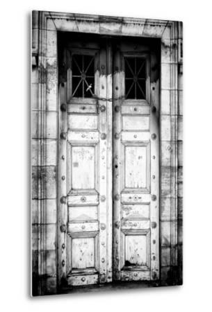 Paris Focus - Old White Door-Philippe Hugonnard-Metal Print