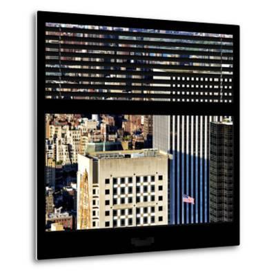 View from the Window - Upper Manhattan Building-Philippe Hugonnard-Metal Print
