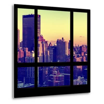 View from the Window - Manhattan Sunset-Philippe Hugonnard-Metal Print