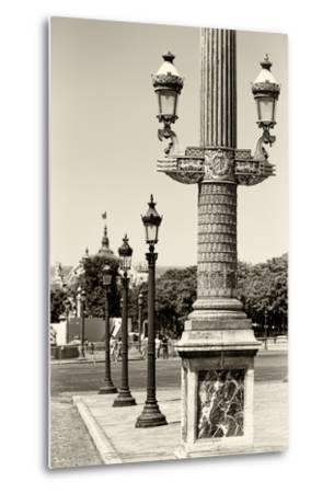 Paris Focus - Row of Lamps-Philippe Hugonnard-Metal Print