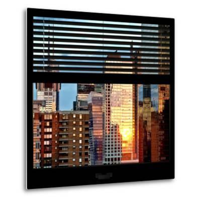 View from the Window - Buildings Sunset - Manhattan-Philippe Hugonnard-Metal Print