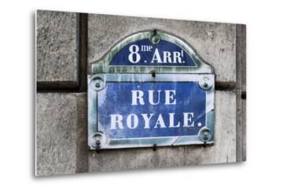 Paris Focus - Rue Royale-Philippe Hugonnard-Metal Print