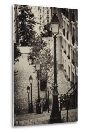Paris Focus - Stairs of Montmartre-Philippe Hugonnard-Metal Print