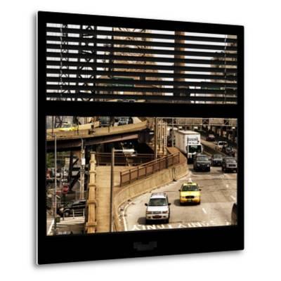 View from the Window - Queensboro Bridge Traffic-Philippe Hugonnard-Metal Print