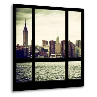 View from the Window - Skyline - Manhattan-Philippe Hugonnard-Metal Print