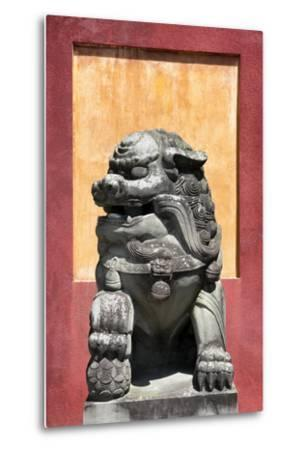 China 10MKm2 Collection - Asian Sculpture of a Stone Lion-Philippe Hugonnard-Metal Print