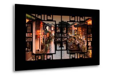 China 10MKm2 Collection - Asian Window - Beautiful Shantang water Town-Philippe Hugonnard-Metal Print
