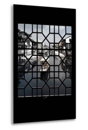 China 10MKm2 Collection - Asian Window - Another Look Series - White Boat-Philippe Hugonnard-Metal Print