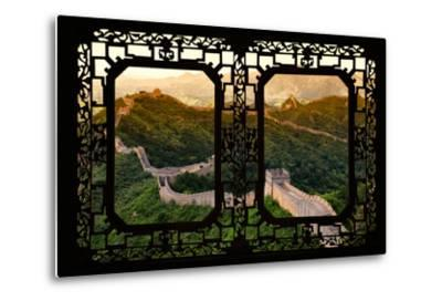 China 10MKm2 Collection - Asian Window - Great Wall of China-Philippe Hugonnard-Metal Print