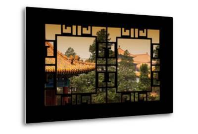 China 10MKm2 Collection - Asian Window - Roofs of Forbidden City at Sunset - Beijing-Philippe Hugonnard-Metal Print