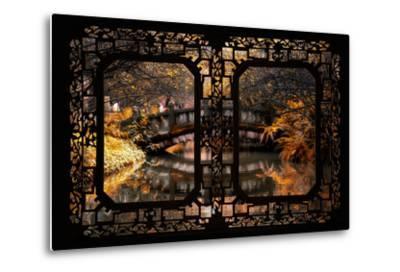 China 10MKm2 Collection - Asian Window - Romantic Bridge in Autumn-Philippe Hugonnard-Metal Print