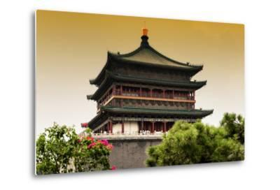 China 10MKm2 Collection - Bell Tower 14th Century-Philippe Hugonnard-Metal Print