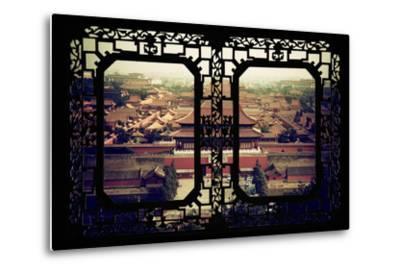 China 10MKm2 Collection - Asian Window - Forbidden City - Beijing-Philippe Hugonnard-Metal Print
