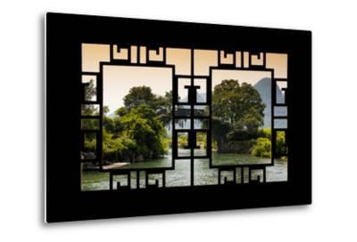 China 10MKm2 Collection - Asian Window - Guilin Yangshuo Bridge-Philippe Hugonnard-Metal Print