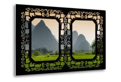 China 10MKm2 Collection - Asian Window - Karst Moutains in Yangshuo-Philippe Hugonnard-Metal Print