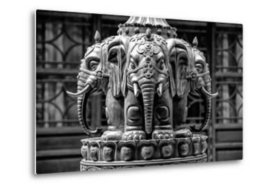 China 10MKm2 Collection - Buddhist Temple - Elephant Statue-Philippe Hugonnard-Metal Print