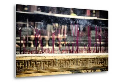 China 10MKm2 Collection - Buddhist Temple with Incense Burning-Philippe Hugonnard-Metal Print