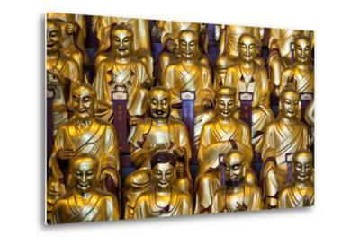 China 10MKm2 Collection - Gold Buddhist Statues in Longhua Temple-Philippe Hugonnard-Metal Print