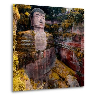 China 10MKm2 Collection - Giant Buddha of Leshan in Autumn-Philippe Hugonnard-Metal Print