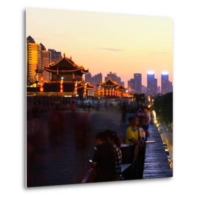 China 10MKm2 Collection - City Night Xi'an-Philippe Hugonnard-Metal Print