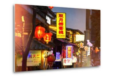 China 10MKm2 Collection - Chinese Signs Night-Philippe Hugonnard-Metal Print
