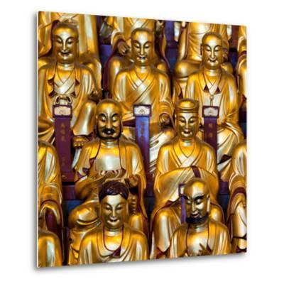 China 10MKm2 Collection - Gold Buddhist Statue in Longhua Temple-Philippe Hugonnard-Metal Print
