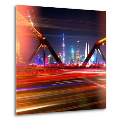 China 10MKm2 Collection - Colorful Garden Bridge - Shanghai-Philippe Hugonnard-Metal Print