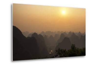 China 10MKm2 Collection - Karst Mountains at sunset - Yangshuo-Philippe Hugonnard-Metal Print