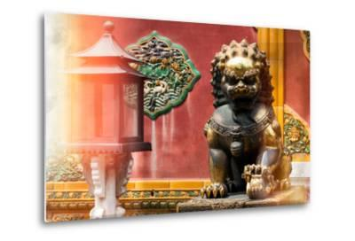 China 10MKm2 Collection - Instants Of Series - Bronze Chinese Lion-Philippe Hugonnard-Metal Print