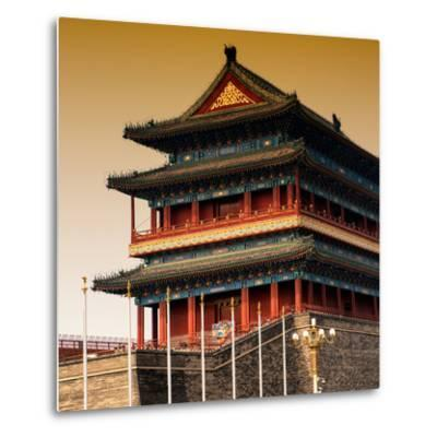 China 10MKm2 Collection - Qianmen Temple-Philippe Hugonnard-Metal Print