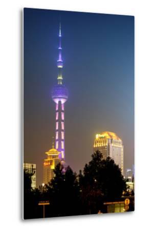 China 10MKm2 Collection - Oriental Pearl Tower at Night - Shanghai-Philippe Hugonnard-Metal Print