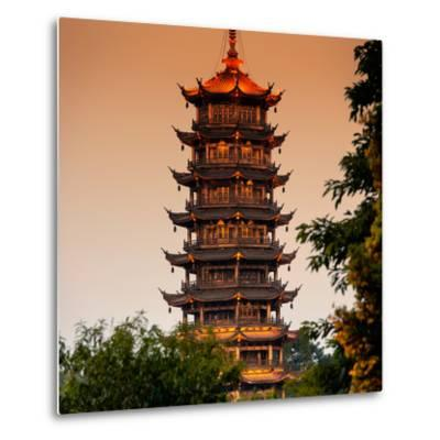 China 10MKm2 Collection - Pagoda at dusk-Philippe Hugonnard-Metal Print