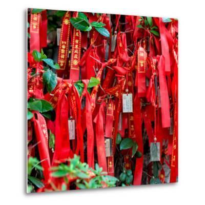 China 10MKm2 Collection - Prayer Ribbons - Buddha Temple-Philippe Hugonnard-Metal Print