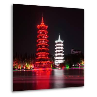 China 10MKm2 Collection - Sun & Moon Twin Pagodas-Philippe Hugonnard-Metal Print