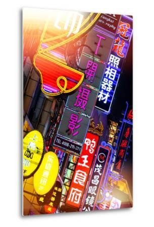 China 10MKm2 Collection - Neon Signs in Nanjing Lu - Shanghai-Philippe Hugonnard-Metal Print