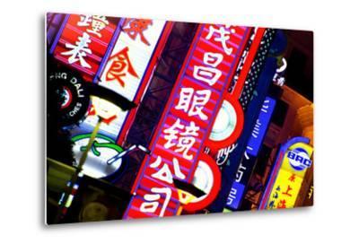 China 10MKm2 Collection - Neon Signs in Nanjing Lu - Shanghai-Philippe Hugonnard-Metal Print