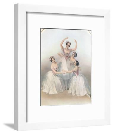 The Celebrated Pas De Quatre: Composed by Jules Perrot, C1850-TH Maguire-Framed Giclee Print