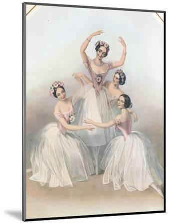 The Celebrated Pas De Quatre: Composed by Jules Perrot, C1850-TH Maguire-Mounted Giclee Print