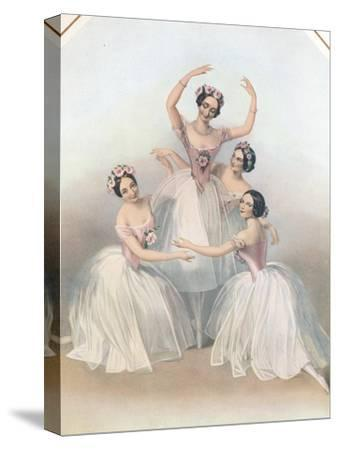 The Celebrated Pas De Quatre: Composed by Jules Perrot, C1850-TH Maguire-Stretched Canvas Print