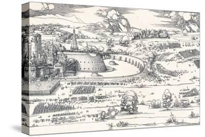 The Siege of a Fortress I, 1527-Albrecht D?rer-Stretched Canvas Print