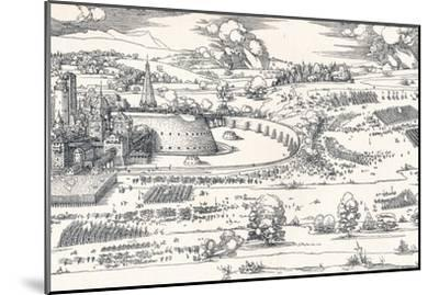 The Siege of a Fortress I, 1527-Albrecht D?rer-Mounted Giclee Print
