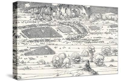The Siege of a Fortress Ii, 1527-Albrecht D?rer-Stretched Canvas Print