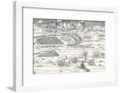 The Siege of a Fortress Ii, 1527-Albrecht D?rer-Framed Premium Giclee Print